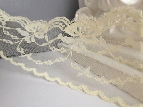 VINTAGE LACE-CHAMPAGNE COLOUR,CHEAP 6.5 cm//2.5inch,RIBBON TRIM BRIDAL CRAFT !