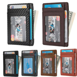 Slim-Genuine-Leather-Slim-Card-Holder-Wallets-For-Men-Minimalist-RFID-Blocking