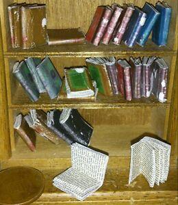 dolls-house-miniature-books-vintage-style-job-lot-of-26-books-REGAL-RANGE