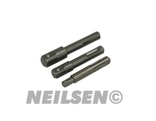 "Adaptor Set 1//4/"" 3//8/"" /& 1//2/"" Drive Heavy Duty Steel 3236 Neilsen Neilsen SDS"