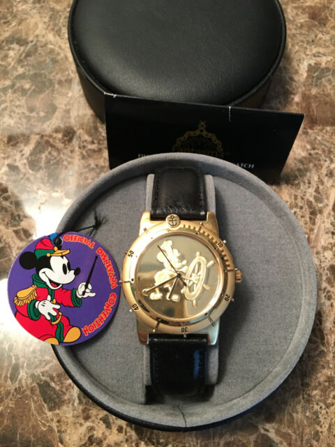 39247dfdfe29 DISNEY MICKEY MOUSE STEAMBOAT WILLIE - 1993 DISNEYANA CONVENTION LE WATCH -  MIB