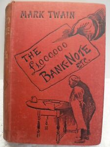 The-1-000-000-Bank-Note-And-Other-Stories-By-Mark-Twain-1st-Edition-1893-Rare