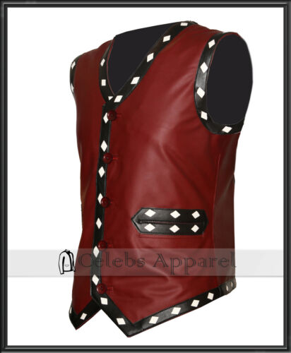 bab4491b The Kostyme Diamond White Biker Herrejakke Warriors Movie Leather Vest  Maroon shQtrdC