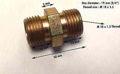 M16x1,5 a M14x1.5 Macho Recto hidráulico de pezón de la igualdad de montaje Unión Neumática