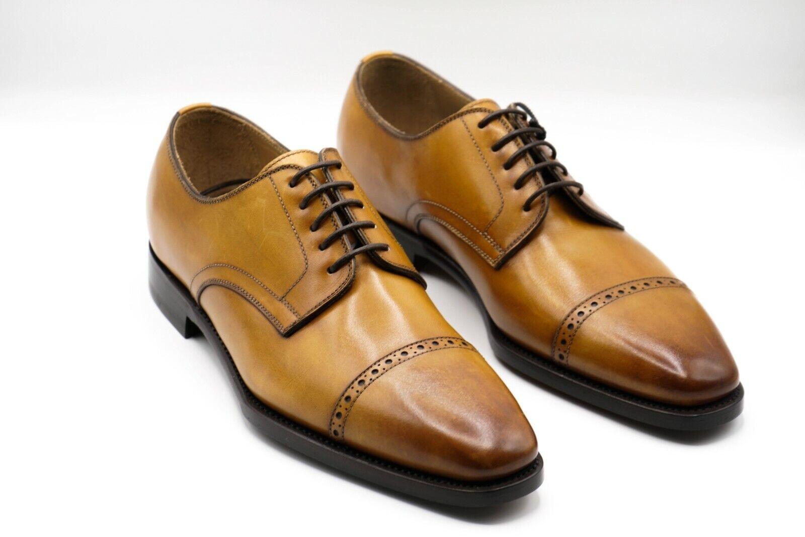 NEW KITON Napoli Dress Leather Shoes Size Eu 40 Uk 6 Us 7 (KIS13)