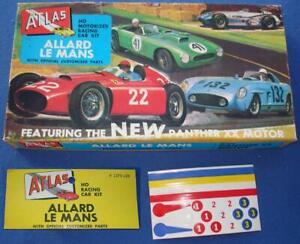 ATLAS HO SCALE SLOT CARS ALLARD #1350 LE MANS EMPTY KIT BOX LID /& STICKER SHEET