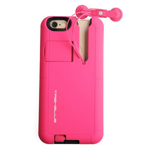 iPhone 6/6S Retractable Built-in Headphone Case Cover Heavy Duty
