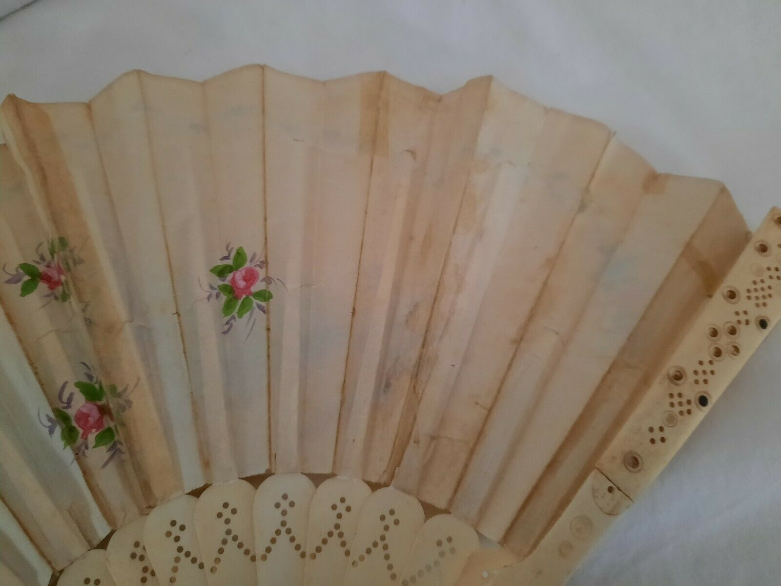 . Antique Victorian Lady's Hand embroidery fan