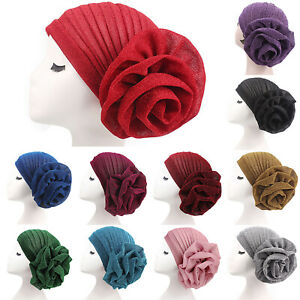 Women-039-s-Lady-Muslim-Indian-Hat-Bonnet-Hijab-Turban-Chemo-Cap-Headscarf-Headwrap