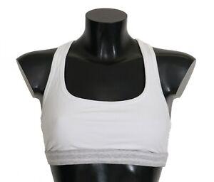 NEW $400 DOLCE & GABBANA Underwear White Cotton Sport Stretch Bra IT3 / US 36