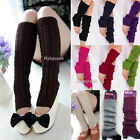 Fashion Women Winter Knit Crochet Leg Warmers Knee High Trim Boot Socks Legging