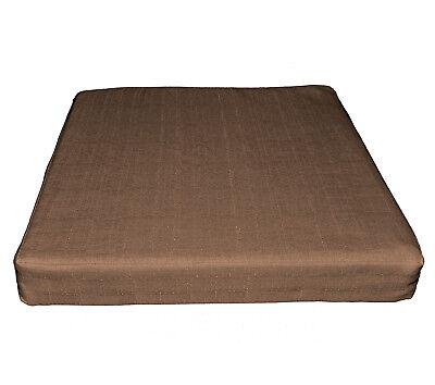 Qh22t Dark Grey Thick Cotton Blend 3D Box Sofa Seat Cushion Cover Custom Size