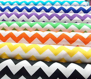 PATCHWORK-NEW-Fabric-CHEVRON-100-Cotton-Dressmaking-Quilting-Material-Plain-Sew