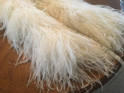 Vintage feather boa in white 96 inches