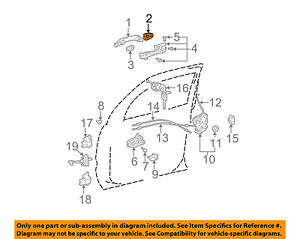 Toyota 69740-0C010 Door Lock Cable Assembly