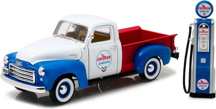 1 18 1950 GMC 150 Chevron con Vintage Chevron bomba verdelight