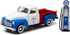 1:18 1950 GMC 150 Chevron with Vintage Chevron Pump Greenlight