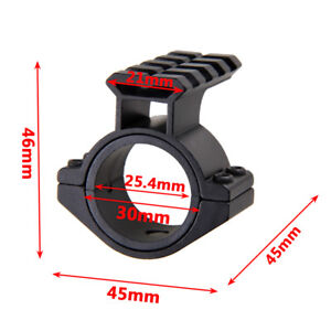 25mm-1-034-Scope-Accessory-Mount-Ring-For-Weaver-Picatinny-Rail-Laser-Torch