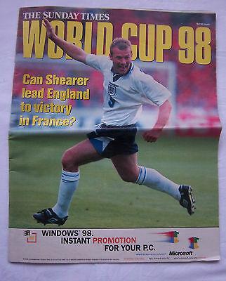 Extra Prg / Guide Wm Frankreich 1998 - England Sonderedition !! Sehr Selten äRger LöSchen Und Durst LöSchen