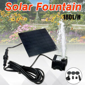 Solar-Fountain-Water-Pump-Panel-Garden-Pond-Pool-Submersible-Watering-tx