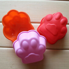 Cute Cat Paw Print Bakeware Silicone Mould Chocolate Cake Cookie Candy Soap Mold