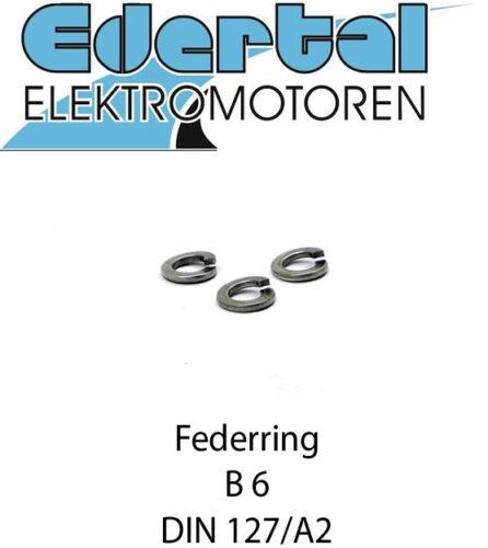 Sperring Form B Federscheibe Edelstahl M6 Federring DIN 127 B6 A2 Rostfrei