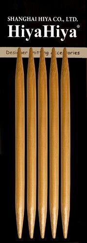 "Choose Size HiyaHiya 6/"" Bamboo Double Point Knitting Needles"