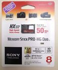 Sony Memory Stick PRO Duo 8 GB Memory Stick PRO-HG Duo Card - Retail - (MSHX8B)