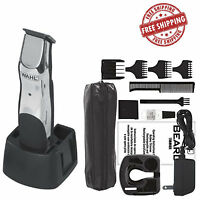 Wahl Beard Rechargeable Trimmer Mustache Clipper Shaver Cordless Hair Razor Kit