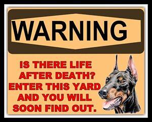 """10/"""" x 8/"""" BEWARE OF DOG SECURITY GUARD WARNING TRESPASS METAL PLAQUE TIN SIGN 222"""