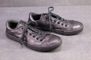 CB312-Converse-All-Star-Chucks-Ctas-Madison-OX-Low-Sneaker-Gr-38-Leder-schwarz