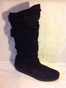 EMMEDIECI M10 Black Knee High Suede Boots Size 44