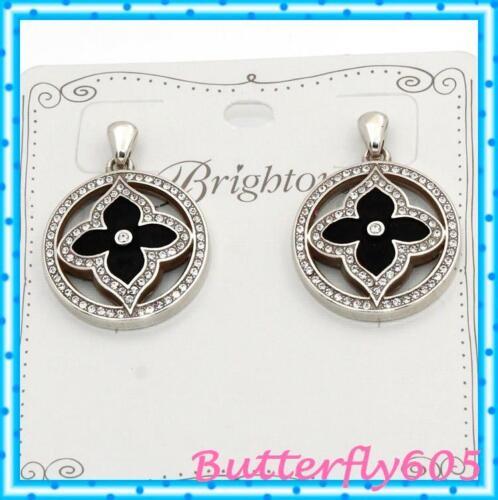Brighton Toledo Alto Noir Black Silver Post Drop Earrings NWT $78
