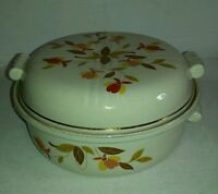 VINTAGE HALLS SUPERIOR QUALITY KITCHENWARE CASSEROLE BOWL? WITH LID AUTUMN LEAF