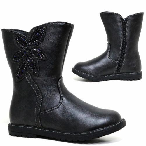 Girls Kids Ankle School Biker Army Chelsea Boots Winter Back To School Shoes