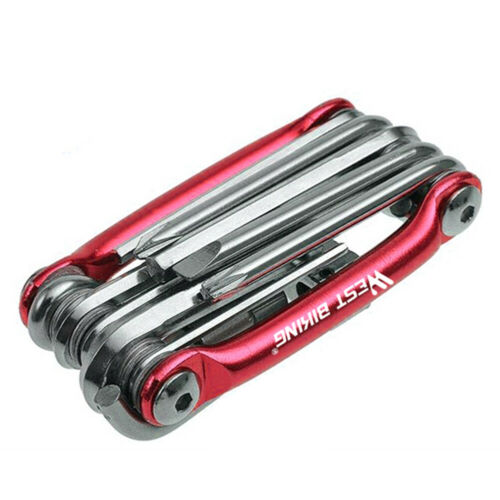 Multifunctional Bicycle Repair Tool 11 in 1 Chain Hex Spoke Wrench Screwdriver