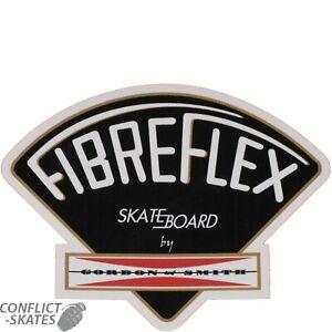 FIBREFLEX-G-amp-S-Skateboard-Sticker-11cm-4-5-034-BLACK-Bigger-size-Old-Skool-1970s