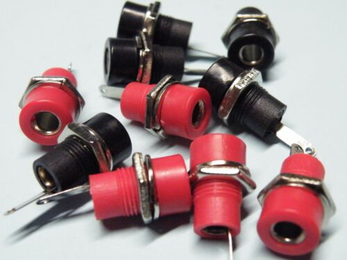 10 x 4 mm budget Banana Plug Sockets 5ea Rouge /& Noir 6 A bbsr//K EJ23