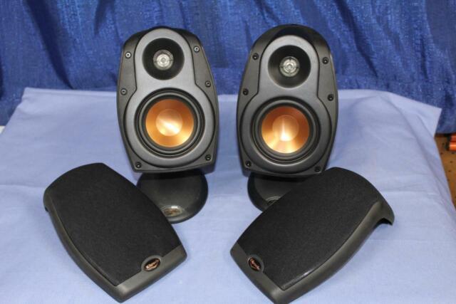Klipsch RSX-4 (Pair) Black Home Theater Satellite Speaker, Used Display, Working