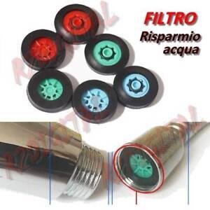 Filtro 4 L/min Risparmio Idrico 60% Rosso Per Soffione Doccia Vasca Cucina Bagno