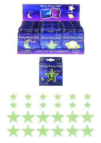 GLOW IN THE DARK STARS 24 pieces stick on