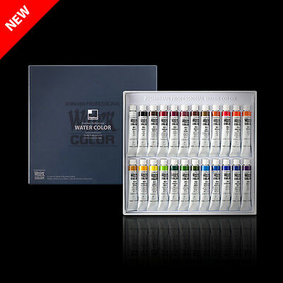 SHINHAN Professional Artist Grade Watercolor Paint Set 24 Colors 7.5ml Tube