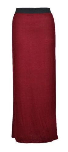 New Womens Ladies Casual Basic Gypsy Long Maxi Dress Skirt Plus Size UK 8-26