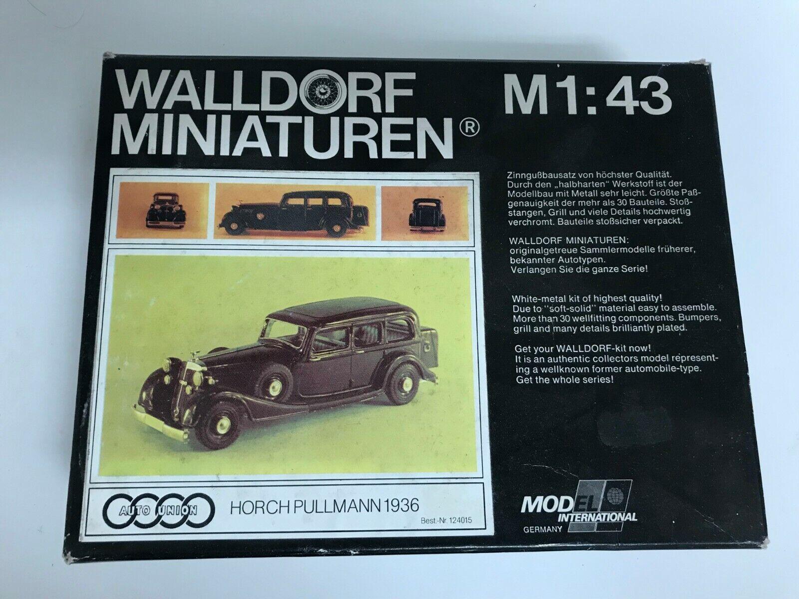 1936-39 Horch 830BL Kit Pullman Limousine por Walldorf Miniaturen 1 43 Muy Rara