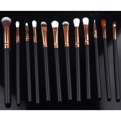 12Pcs Cosmetic Brush Foundation Eye Shadow Makeup Brush Sets Kits Tools Hot