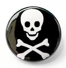 "SKULL & CROSSBONES - Novelty Button Pinback Badge 1"" Pirate"