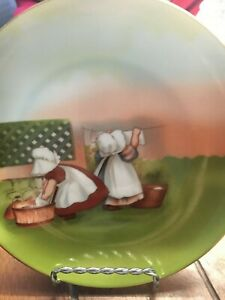 SUN-BONNET-BABIES-LIMITED-EDITION-ROYAL-BAYREUTH-GERMANY-1974-MONDAY-WASHING