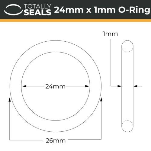 Nitrile NBR O-Rings OD Rubber 70A Metric Seals Gaskets 26mm Outer Diameter