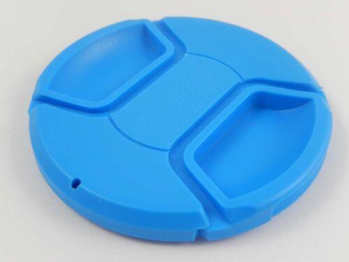 Lens Cap 77mm for Casio blue