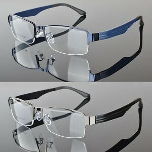 7ec8cc848f68 TR90 Men s Half rimless sport Glasses Eyeglass Frame Optical Eyewear ...